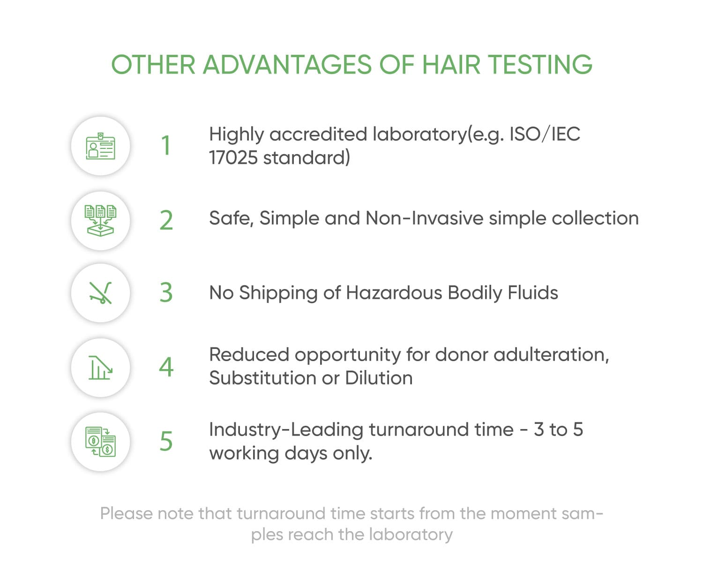 benefits of hair drug test